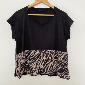 AllSaints Womens Medium Kazuno Pina Tee Shirt